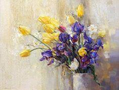 Irises-and-tulips.-Artist-Oleg-Timoshin.jpeg (500×378)