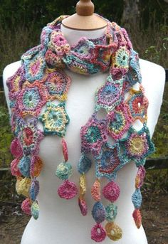 lovely crochet scarf!