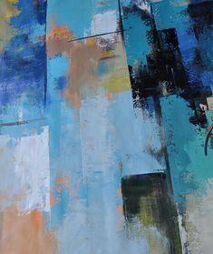 CZ Art Design - Hand-painted Palette Knife Contemporary Art canvas painting  #L58A.