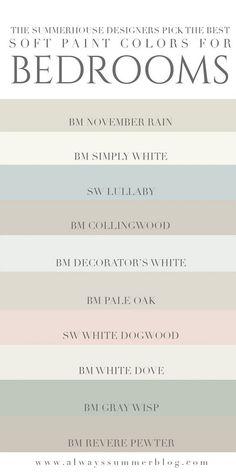 Best Bedroom Paint Colors, Interior Paint Colors, Paint Colors For Home, Interior Painting, Interior Design, Popular Paint Colors, House Paint Interior, Light Paint Colors, Wall Colors