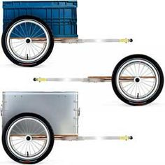 Y-Frame Bicycle Trailer from Carry Freedom Bike Trailer, Food Trailer, Vespa, Fiat, Carry On, Freedom, How To Plan, Camping, Vehicles