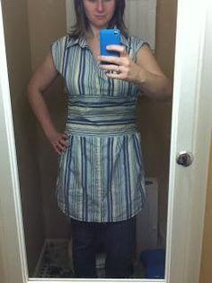 DIY Clothes DIY Refashion DIY Men's Shirt to Women's Dress