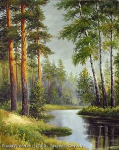 """May. The First Leaves"" - oil, canvas http://www.russianfineart.co/catalog/prod.php?productid=21158 Artist: Yanulevich Gennady"