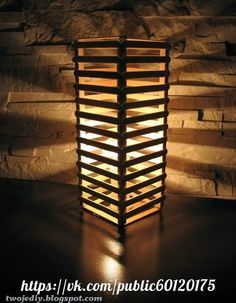 LAMP IN ECO STYLE Popsicle Stick