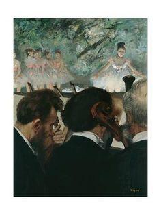 Orchestra Musicians Giclee Print by Edgar Degas at Art.com