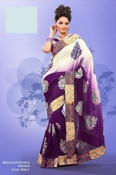 Glamorous Bollywood Embroidery Saree Indian Partywear Designer Sari Fabric india