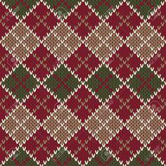 Traditional Christmas Sweater Entwurf. Nahtlose Argyle Strickmuster Lizenzfrei Nutzbare Vektorgrafiken, Clip Arts, Illustrationen. Pic 34174678.