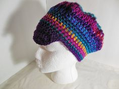 OOAK Crocheted Newsboy Beret Hat Teen Adult by JustAMomFromNH