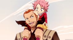 fairy tail natsu gets ingerd | Gildarts & Natsu* - fairy-tail Photo<-----I love their relationship