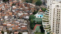 Sao Paulo, July 2006 - Morumbi area - Paraisopolis Favela is next to rich buildings of the upper middle class