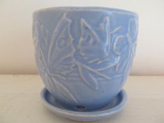 1940s McCoy Butterfly Flower Pot 3 1/4 by IzzysInstincts on Etsy