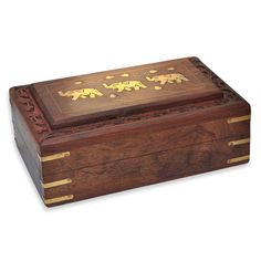 Gift for Her Elephant Design Jewelry Box: Amazon.co.uk: Kitchen & Home
