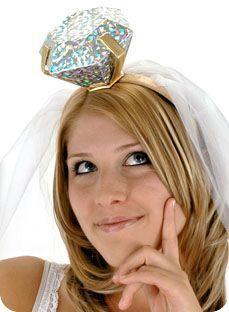Diamond ring headband! Bachelorette Party idea.....maybe we should make Dana wear this! @Shannon Bellanca Tronzo
