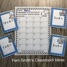 You will love how easy it is to prepare these 3rd Grade Go Math 4.3 Multiply With 6 Task Cards for your class. My students LOVED Task Cards and your students will too! Students can answer these Multiply With 6 Task Cards in your classroom math journals or on the included recording sheets. These 3rd Grade Go Math 4.3 Multiply With 6 Task Cards are perfect for assessment grades for 3rd Grade Go Math Chapter 4! Multiplication Activities, Math Rotations, Math Centers, 5th Grade Teachers, 3rd Grade Math, After School Tutoring, Math Night, Go Math, Math Journals