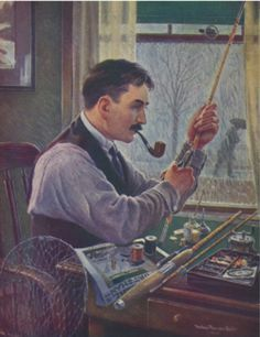 controlled-burn:  Sporting theme today on controlled burn  Pipe smoking and fishing - the 2 most relaxing pastimes