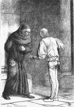 """Illustration by Brion. This is when Claude asks Pierre if he's touched her; The goat?"""" asks Pierre Victor Hugo, Fawlty Towers, Paris Pictures, Touching Herself, Oppression, Notre Dame, Cathedral, Eye Candy, Medieval"""