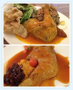 Opika Restaurant  Up - Nasi Ulam with Percik Chicken RM29.90 Down - Confit of Free Range Chicken with Manuka Honey Mashed Sweet Potato