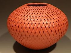 Red Artichoke: Michael Wisner: Ceramic Vase