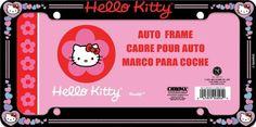 Amazon.com: Hello Kitty Glitter License Plate Frame (Made of Plastic): Automotive