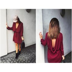 DRESS BY: Design by Sofie Zeeberg Kimman - Backless - details - red - bordeaux