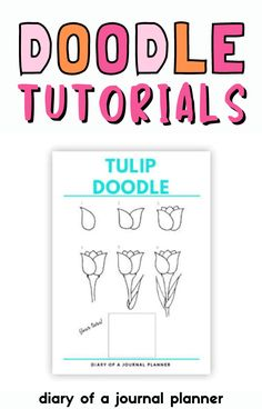 The best step-by-setp printable bullet journal doodle tutorials you need to try out! #doodles #Bujo Happy Doodles, Bujo Doodles, Love Doodles, Simple Doodles, Journal Layout, Art Journal Pages, Doodle Drawings, Easy Drawings, Doodle Learn