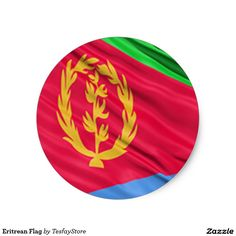 Shop Eritrean Flag Classic Round Sticker created by TesfayStore. Eritrean, Round Stickers, Flag, Classic, Art, Kunst, Science, Classical Music, Flags
