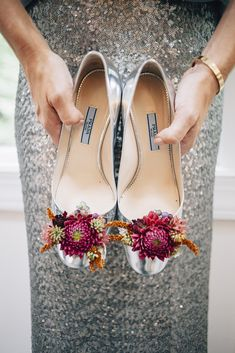 Shoe flowers designed for the Mother of the Bride by Love 'n Fresh Flowers.