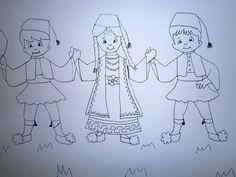 Προσχολική Παρεούλα : 25η Μαρτίου 1821 Coloring Pages, Costumes, Traditional, March, Quote Coloring Pages, Dress Up Clothes, Fancy Dress, Kids Coloring, Colouring Sheets
