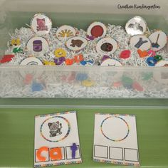 Working on CVC Words in sensory bins is a great way to engage students in learning about CVC words. Simply add the picture cards and magnetic letters to a bin, and students can be engaged in learning. Kindergarten Literacy, Preschool Learning, Literacy Centers, Hands On Activities, Fun Activities, Words To Spell, Cvce Words, Engage In Learning, Learn To Spell