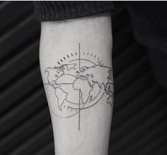 35 best world map tattoo ideas for travel lovers pinterest map world map tattoo gumiabroncs Gallery