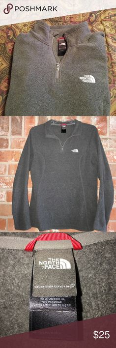 """Cozy Quarter Zip Pullover By North Face Size M This pullover is so comfy. My daughter only wore it a few times. It doesn't get that cold here in Texas💕💕it's in great condition. No rips stains or tears. It measures 20"""" underarm to underarm and is 25"""" long It does stretch💕 The North Face Tops Sweatshirts & Hoodies"""