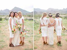 white bridesmiads