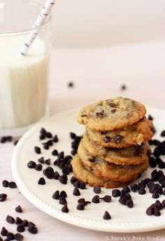 BEST Chocolate Chip Cookies – soft, chewy bite-size chocolate chip cookies bursting with chocolate chips and chopped walnuts.