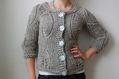 Making this right now! So easy and pretty. Ravelry: Modern Garden Cardigan pattern by Veera Välimäki