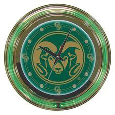 Trademark Commerce CLC1400-COST Colorado State University Neon Clock - 14 inch Diameter