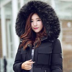 Parka Jacket Snow Wear Winter Jacket, new SPECIAL SALE PRICE FOR NEW OPENING.  Reliable warmth in wet, cold conditions, ultralight jacket.  Real Raccoon Fur, Cotton filling, Pockets, Zippers, Spliced, Adjustable Waist.  Black color. Brand new, available in size M - XL. Ships in 3 weeks. Jackets & Coats