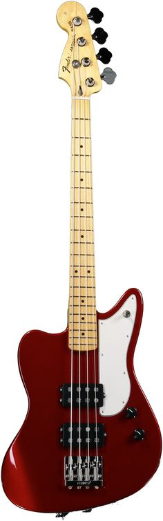 Fender Pawn Shop Reverse Jaguar Bass - Candy Apple Red