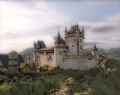 3D reconstruction of Castle Wernerseck of the Archbishop of Trier, Werner von Falkenstein in the 14th century.