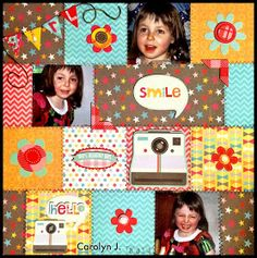 Ramblings of a Winnipeg Mommy: Smile Layout - Picture This! DT. MME My Girl kit.