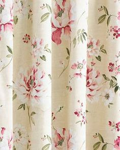 Aurora rose traditional floral curtains