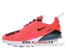 half off 656dd c0353 Nike Air Max 270 Flyknit Chaussures De Course de Prix Pas Cher Homme Blanc  rouge BQ0742