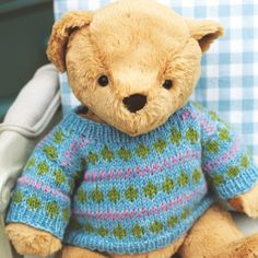 Knitting Pattern For Teddy Bear Jumper : Toy Knitting Patterns on Pinterest Knitting Patterns ...
