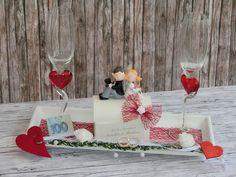 Geldgeschenke -  Geldgeschenk zur Hochzeit Sektgläser Brautpaar - ein Designerstück von Festtags-Shop bei DaWanda