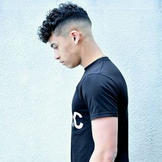 Perfect fade. Curly hair. Idea from the web.