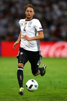 Benedikt Hoewedes of Germany in action during the UEFA EURO 2016 Group C match between Germany and Ukraine at Stade Pierre-Mauroy on June 12, 2016 in Lille, France.