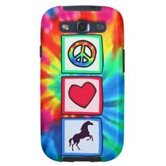 Peace, Love, Horses Galaxy S3 Cover