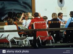Princess Diana Prince William Lord Linley relaxing over lunch at ski resort Lech Austria