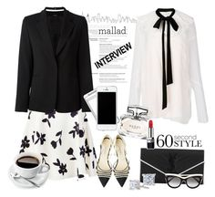 """Job Interview"" by rever-de-paris ❤ liked on Polyvore featuring Chloé, GiGi New York, Carolina Herrera, Maison Margiela, Yves Saint Laurent, Gucci, STELLA McCARTNEY, Christian Dior, contestentry and polyvoreeditorial"