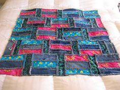 Denim Rag Quilt Cute pattern