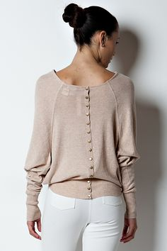 Leigh Sweater in Melange Cotton | Women's Clothes, Casual Dresses, Fashion Earrings & Accessories | Emma Stine Limited